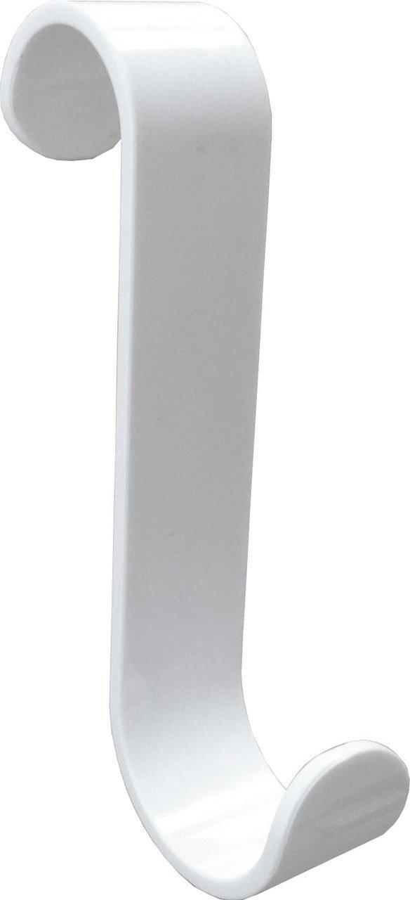 HEIZKÖRPERHAKEN für Rundheizköper, Weiss, 10er-Set - Zwei unterschiedliche Radien Ø 23 mm und Ø 28 mm, dadurch vielseitig einsetzbar