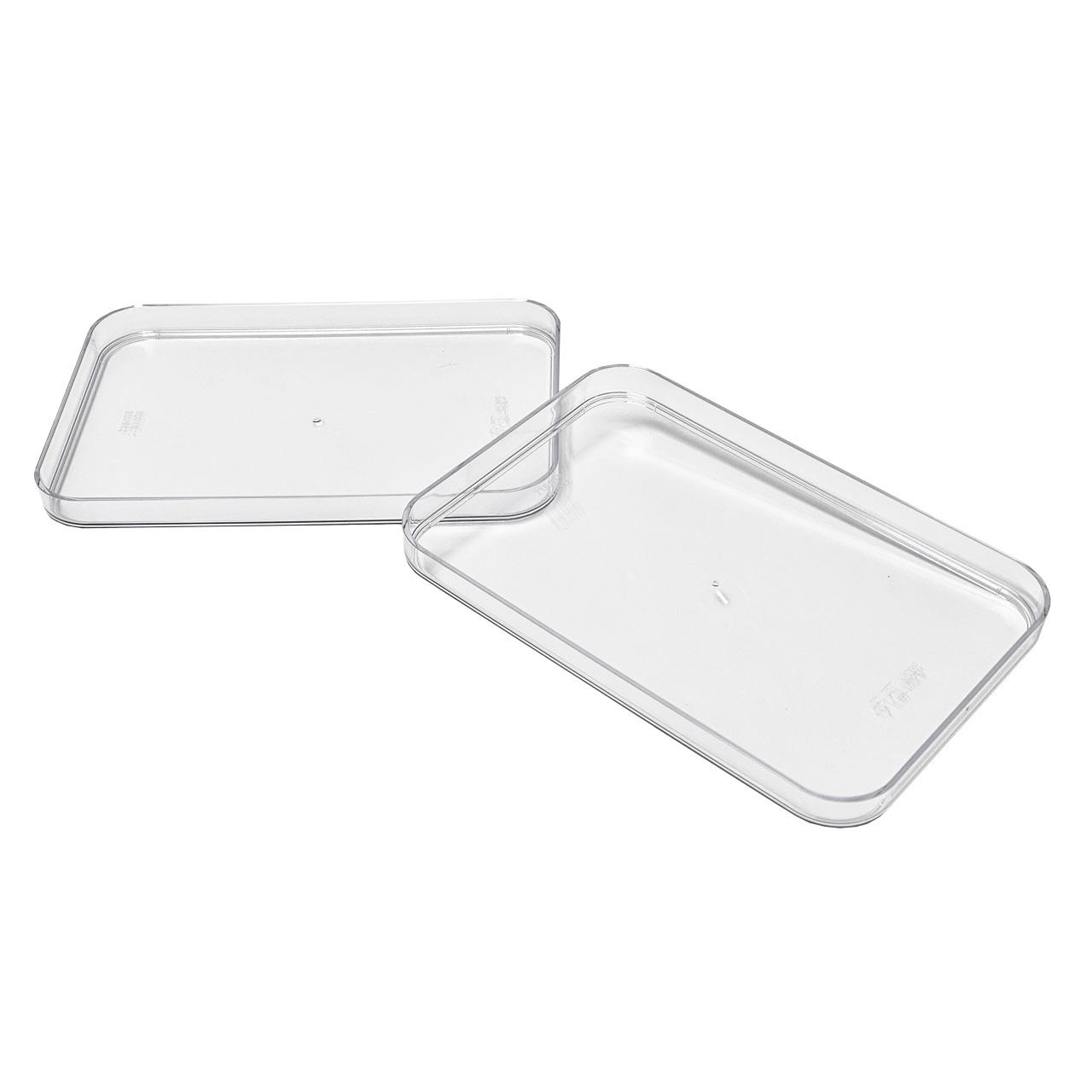 Kühlschrank Organizer Boxen-Set mit Beschriftungsetiketten (M-Deckel-2er-Set)