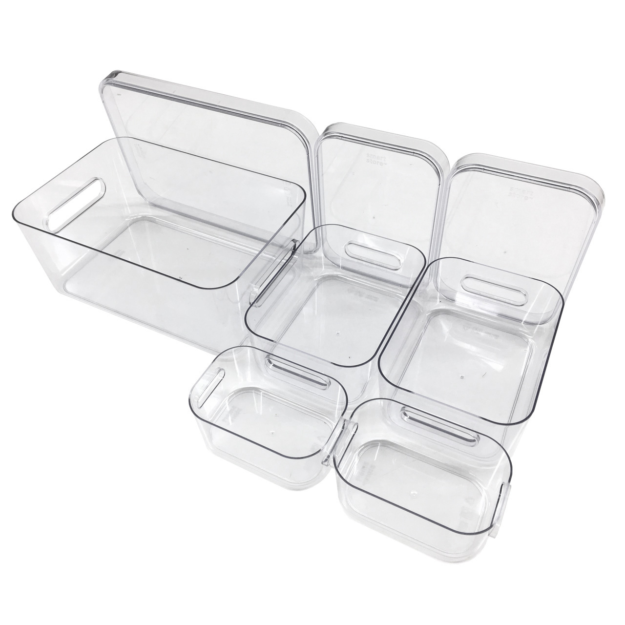 Kühlschrank Organizer Boxen-Set mit Beschriftungsetiketten (Mixed-8er-Set inkl. Deckel)