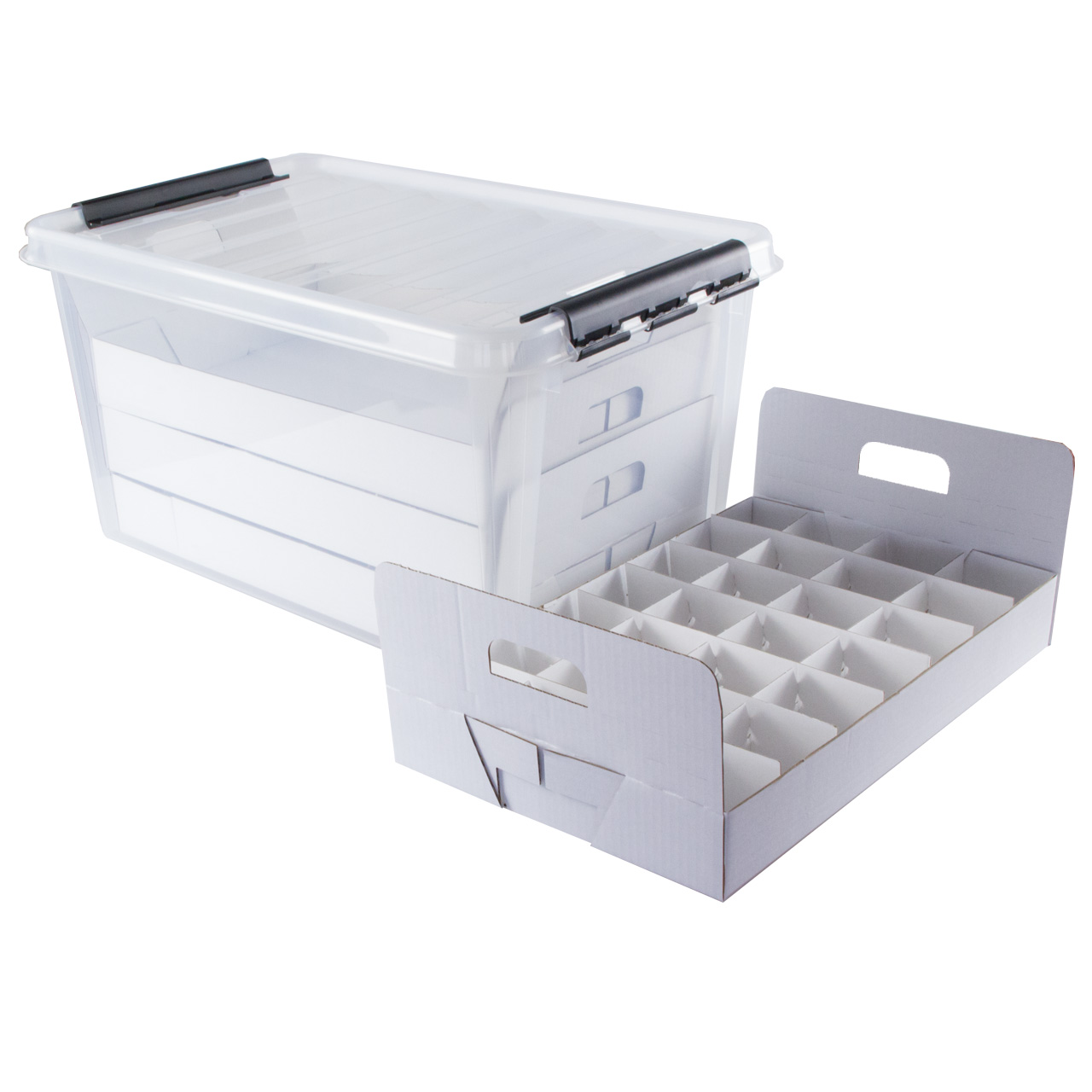 TOP-Box Compact - Aufbewahrungbox für Dekoartikel mit Inneneinteilung