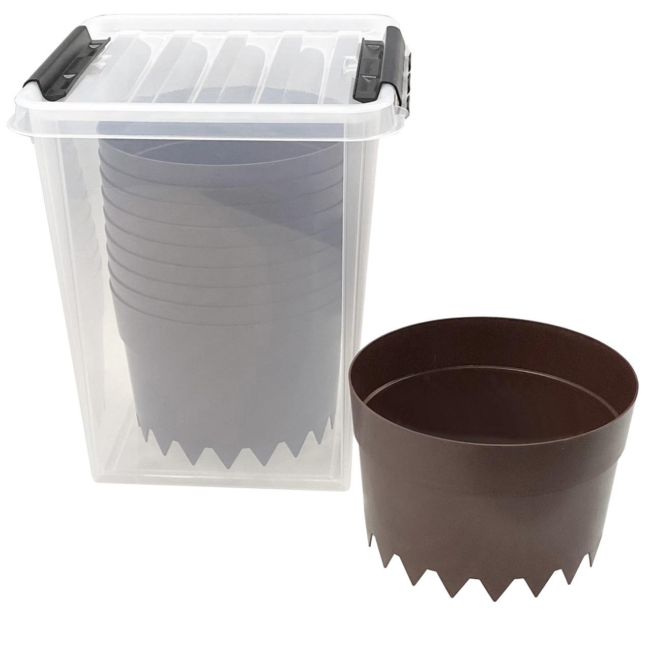 AQUARING 10er-Set, Ø 20 cm BRAUN in einer praktischen Aufbewahrungsbox