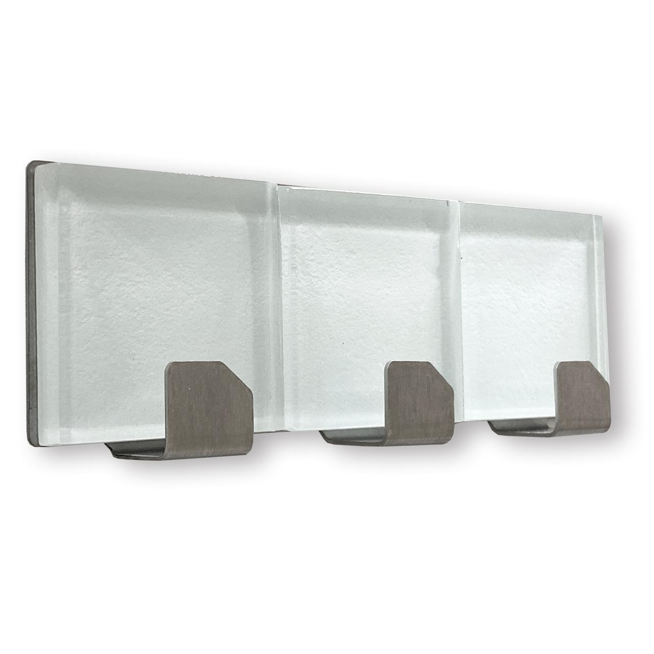 Hakenleiste Edelstahl 3 teilig – DESIGN GLAS, selbstklebend
