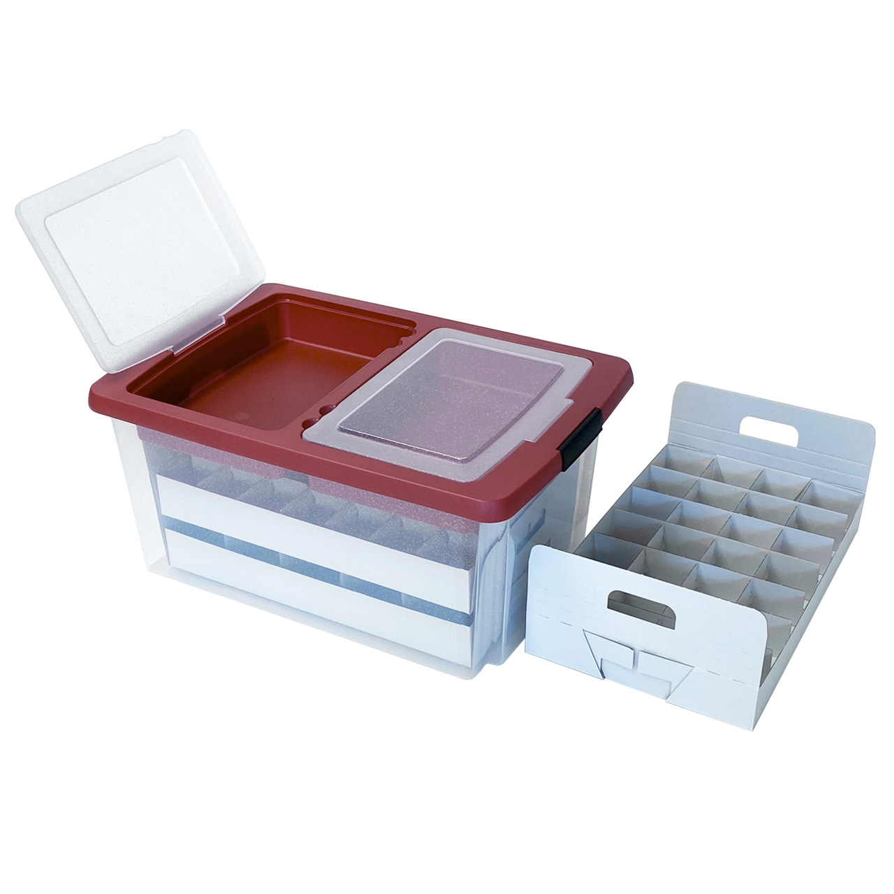 TOP-BOX Edition Aufbewahrungsbox für Weihnachtskugeln, Christbaumschmuck