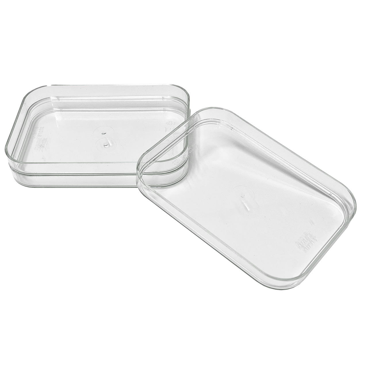 Kühlschrank Organizer Boxen-Set mit Beschriftungsetiketten (S-Deckel-3er-Set)